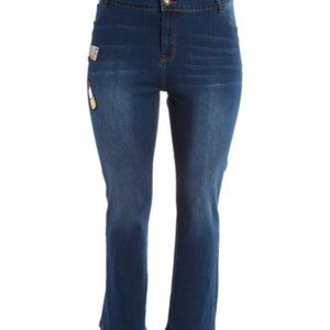 NWT Poppy jeans with sequin embellishment -2X